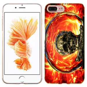 Apple iPhone 7 PLUS Inferno Skull Phone Cases