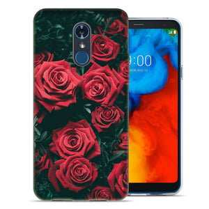 LG Stylo 4 Red Roses Design TPU Gel Phone Case Cover