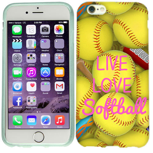Apple iPhone 6s Love Softball Case Cover