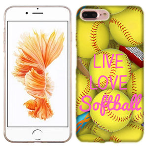 Apple iPhone 7 PLUS Love Softball Phone Cases