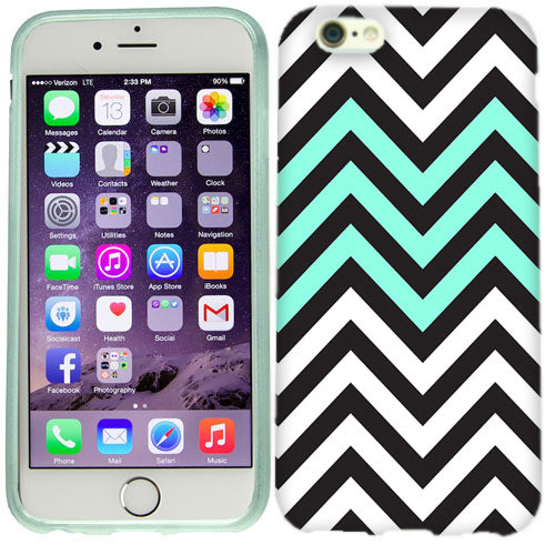 Apple iPhone 6s Plus Mint Black Chevron Case Cover