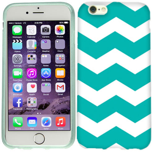 Apple iPhone 6s Plus Mint Chevron Case Cover