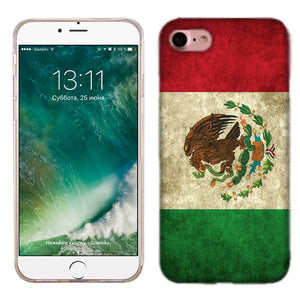 Apple iPhone 7 Mexico Flag Phone Cases