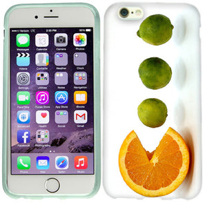Apple iPhone 6s Plus Orange Lime Case Cover
