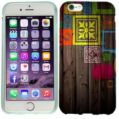 Apple iPhone 6s Plus Paint on Wood Case Cover