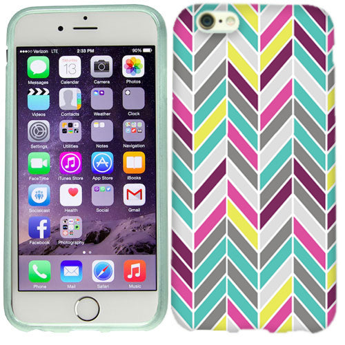 Apple iPhone 6s Plus Pastel Chevron Case Cover