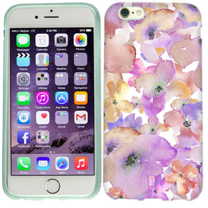 Apple iPhone 6s Purple Gold Flowers Case Cover