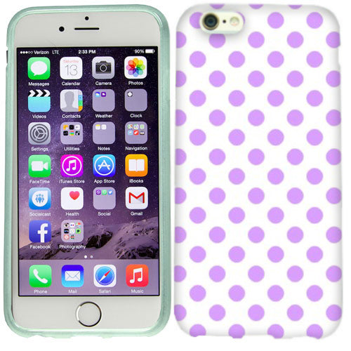 Apple iPhone 6s Purple Polka Dots Case Cover