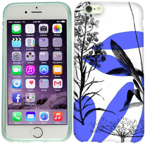 Apple iPhone 6s Purple White Floral Case Cover
