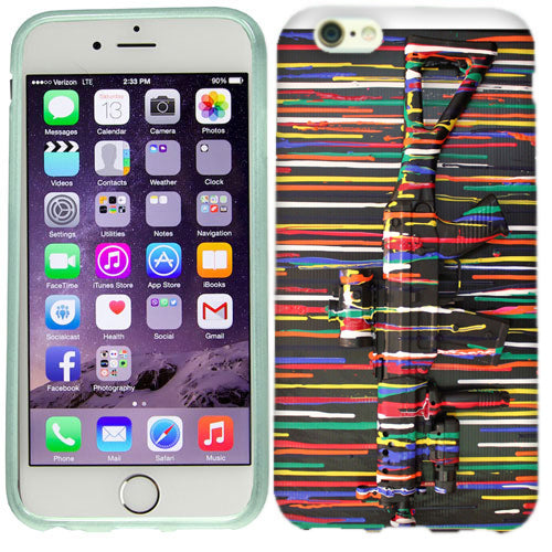 Apple iPhone 6s Plus Paint Gun Case Cover