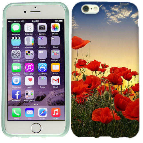 Apple iPhone 6s Plus Poppy Flowers Case Cover