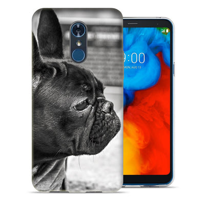 LG Stylo 4 French Bulldog Design TPU Gel Phone Case Cover