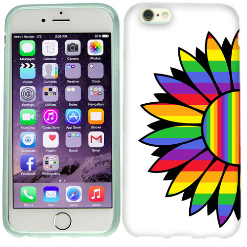 Apple iPhone 6s Plus Rainbow Flower Case Cover