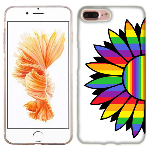 Apple iPhone 7 PLUS Rainbow Flower Phone Cases