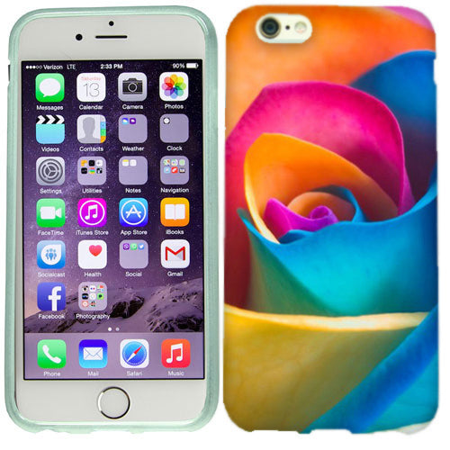 Apple iPhone 6s Rainbow Rose Case Cover