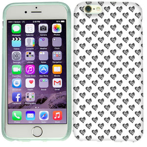 Apple iPhone 6s Plus Sketched Hearts Case Cover