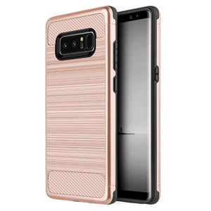 Samsung Galaxy Note 8 Rose Gold Techsilk Grip Phone Cases
