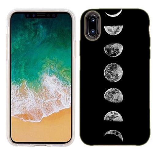 Apple iPhone X Transition Moon Phone Cases