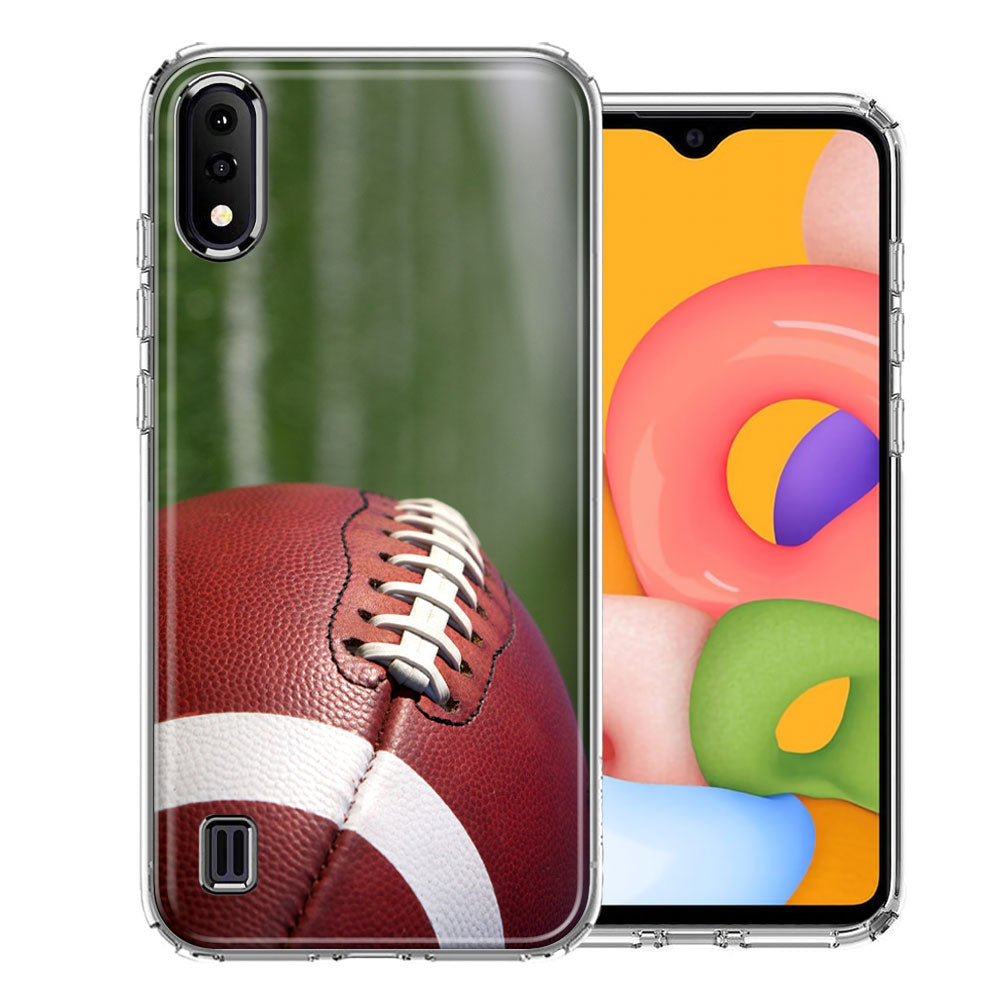 Samsung A01 Football Design Double Layer Phone Case Cover