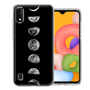 Samsung A01 Moon Transitions Design Double Layer Phone Case Cover
