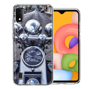 Samsung A01 Motorcycle Chopper Design Double Layer Phone Case Cover
