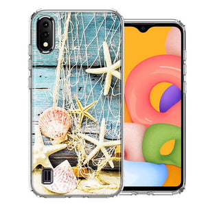 Samsung A01 Starfish Net Design Double Layer Phone Case Cover