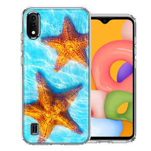 Samsung A01 Ocean Starfish Design Double Layer Phone Case Cover