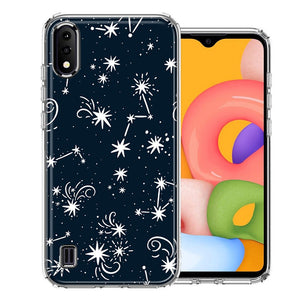 Samsung A01 Stargazing Design Double Layer Phone Case Cover