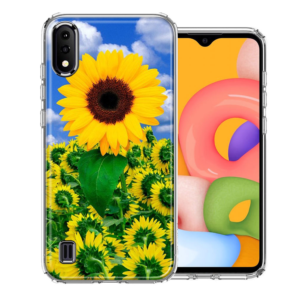Samsung A01 Sunflowers Design Double Layer Phone Case Cover