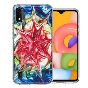 Samsung A01 Tie Dye Abstract Design Double Layer Phone Case Cover
