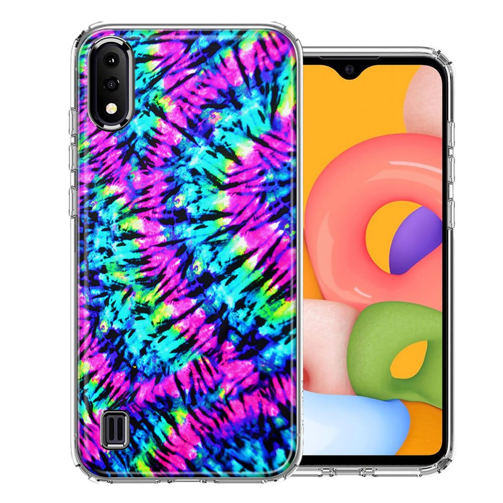 Samsung A01 Hippie Tie Dye Design Double Layer Phone Case Cover