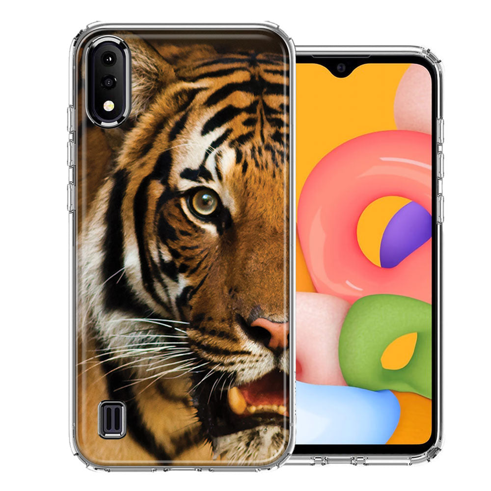 Samsung A01 Tiger Face Design Double Layer Phone Case Cover
