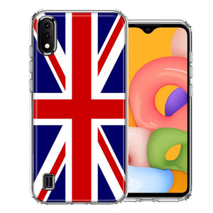 Samsung A01 UK England British Flag Design Double Layer Phone Case Cover