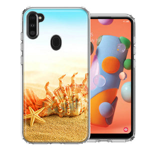 Samsung A11 Beach Shell Design Double Layer Phone Case Cover