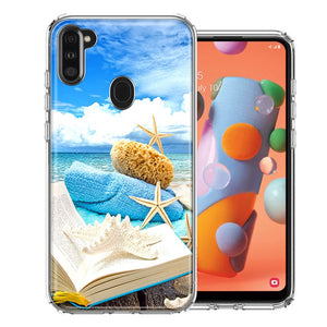 Samsung A11 Beach Reading Design Double Layer Phone Case Cover