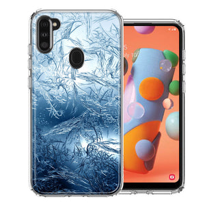 Samsung A11 Blue Ice Design Double Layer Phone Case Cover