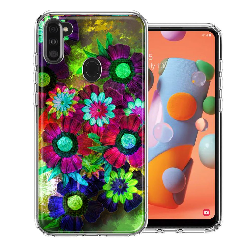 Samsung A11 Colorful Daisies Design Double Layer Phone Case Cover