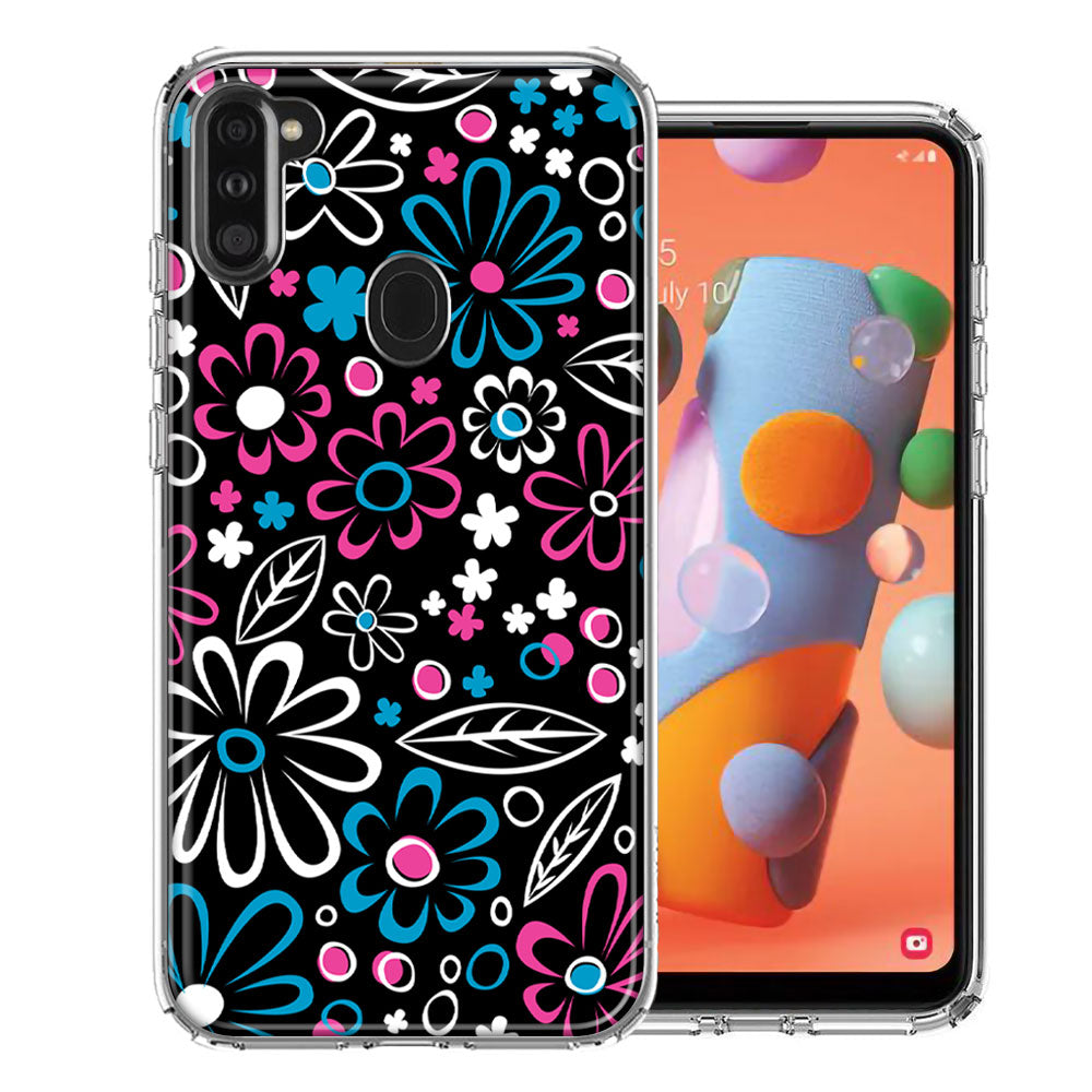 Samsung A11 Cute Daisies Design Double Layer Phone Case Cover