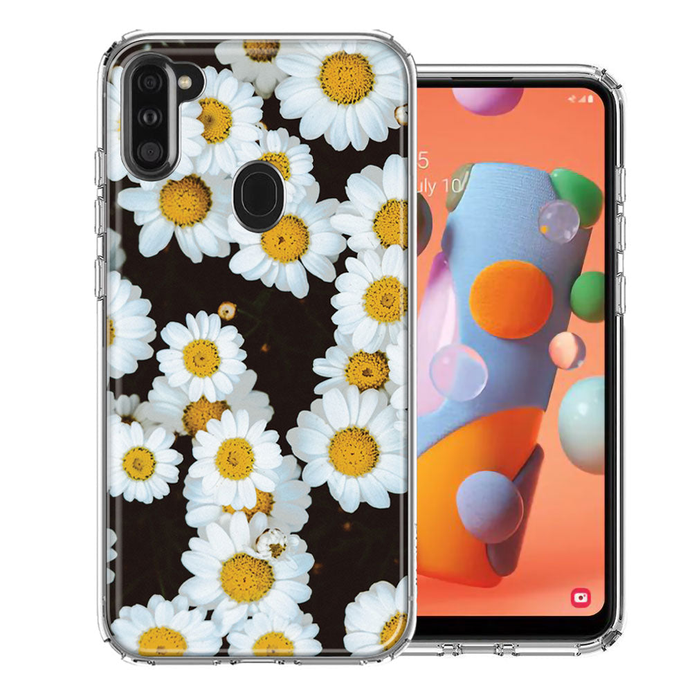 Samsung A11 Cute Daisy Flower Design Double Layer Phone Case Cover