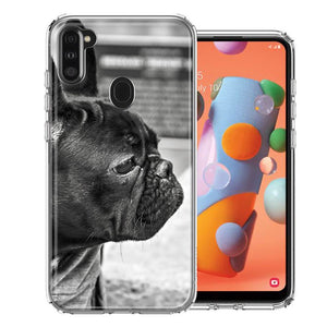 Samsung A11 French Bulldog Design Double Layer Phone Case Cover