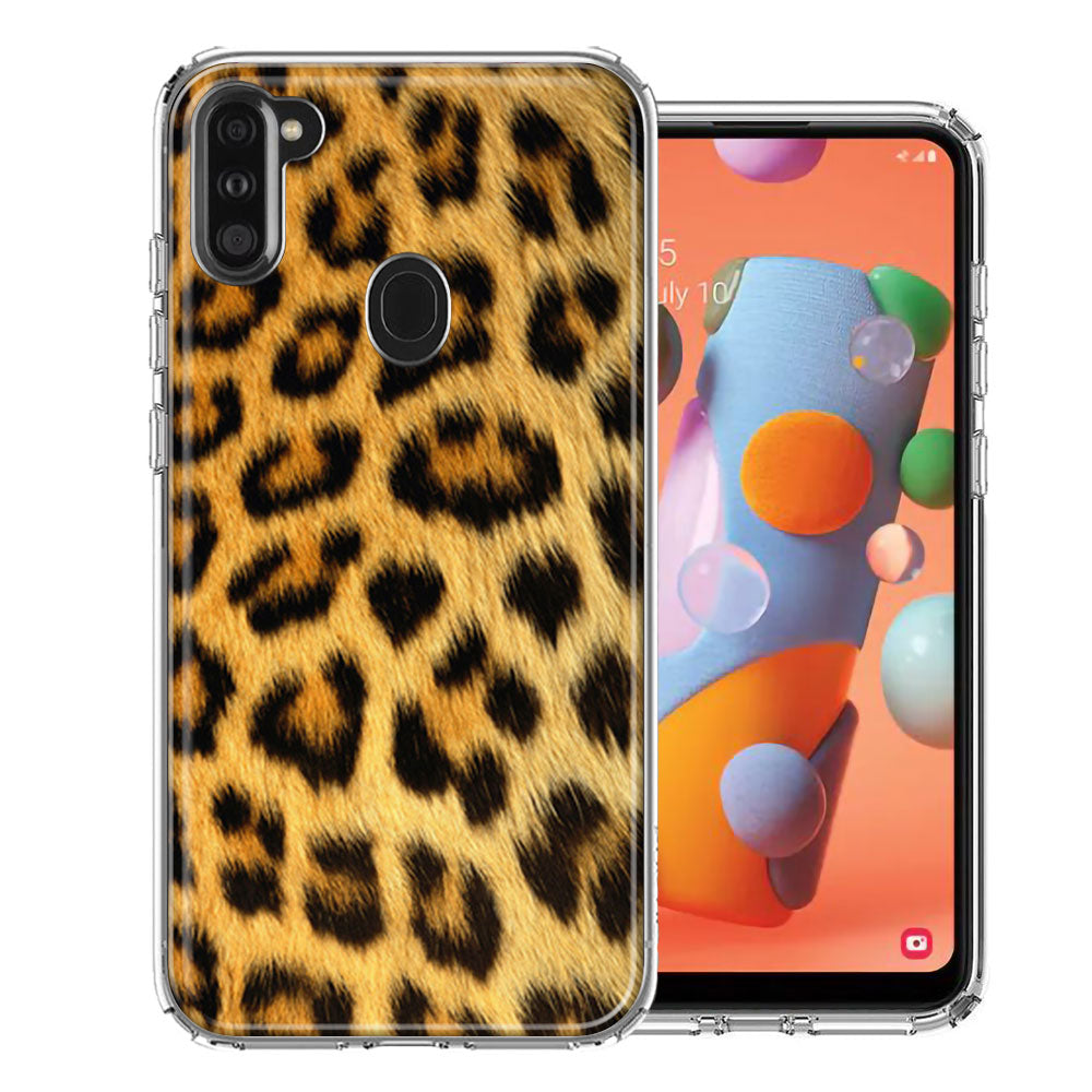 Samsung A11 Classic Leopard Design Double Layer Phone Case Cover