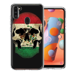 Samsung A11 Mexico Flag Skull Design Double Layer Phone Case Cover