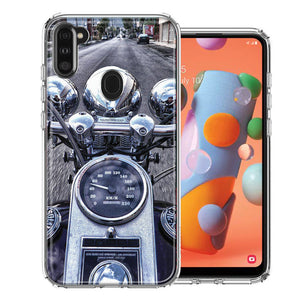 Samsung A11 Motorcycle Chopper Design Double Layer Phone Case Cover