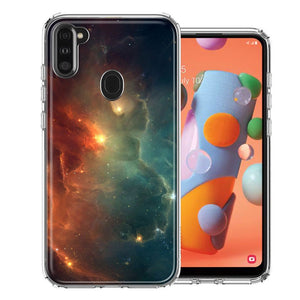 Samsung A11 Nebula Design Double Layer Phone Case Cover