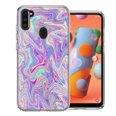 Samsung A11 Paint Swirl Design Double Layer Phone Case Cover