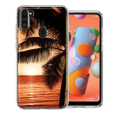 Samsung A11 Paradise Sunset Design Double Layer Phone Case Cover