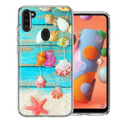 Samsung A11 Seashell Wind chimes Design Double Layer Phone Case Cover