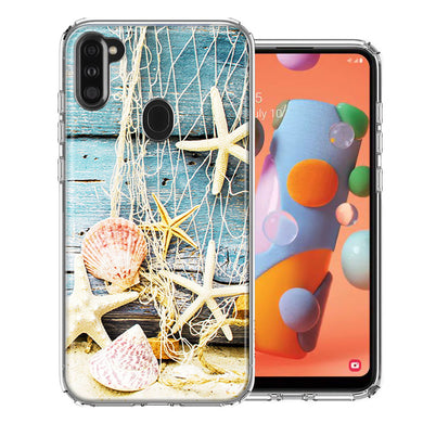 Samsung A11 Starfish Net Design Double Layer Phone Case Cover