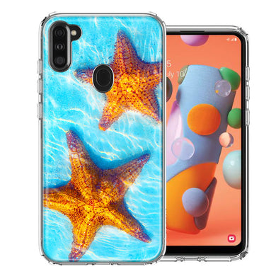 Samsung A11 Ocean Starfish Design Double Layer Phone Case Cover