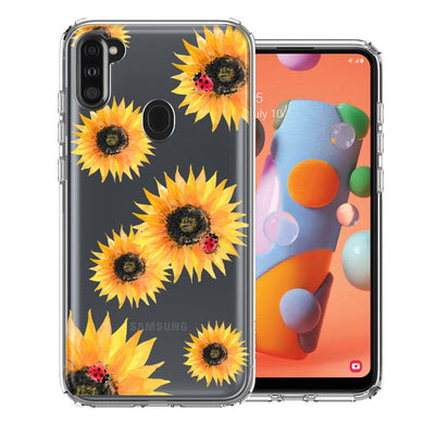 Samsung A11 Sunflower Ladybug Design Double Layer Phone Case Cover
